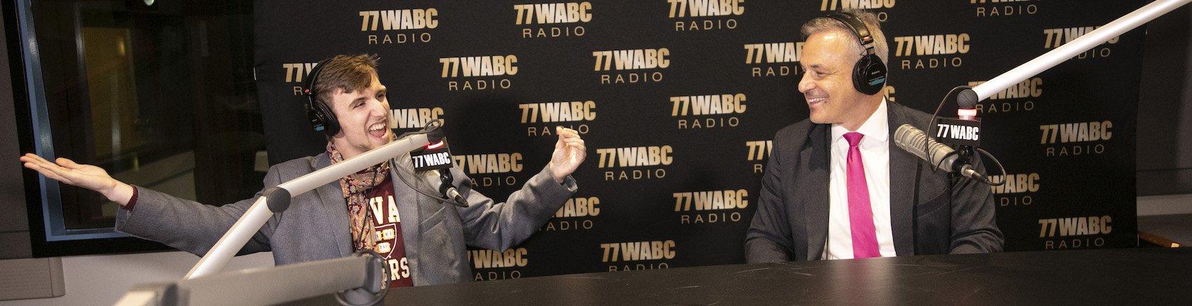 Alexander Velitchko with Clint Arthur on 77 WABC