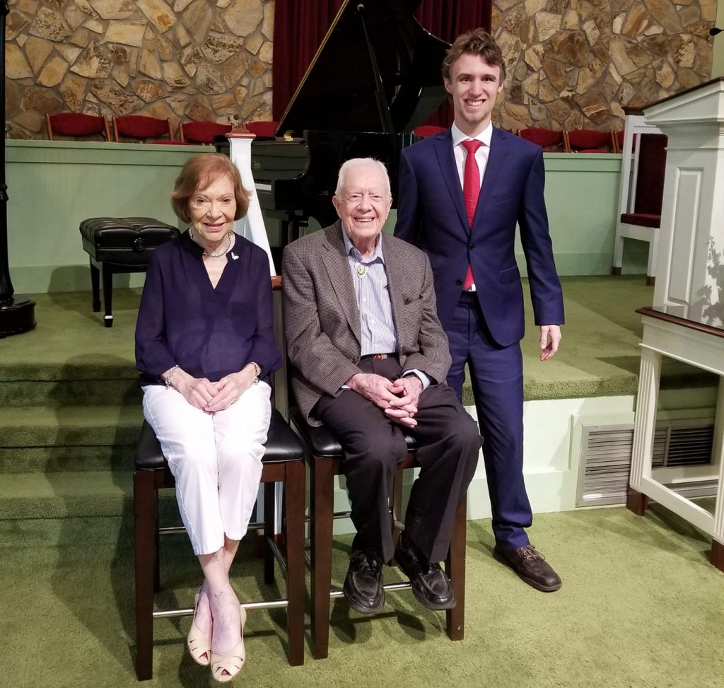 Rosalynn Carter, Jimmy Carter, and Alexander Velitchko